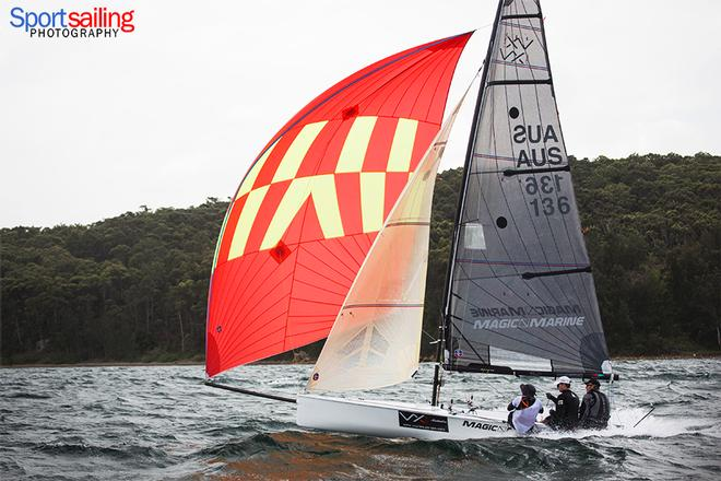 Series leader Tachyon - VX One Championships in Lake Macquarie 2014 © Beth Morley - Sport Sailing Photography http://www.sportsailingphotography.com