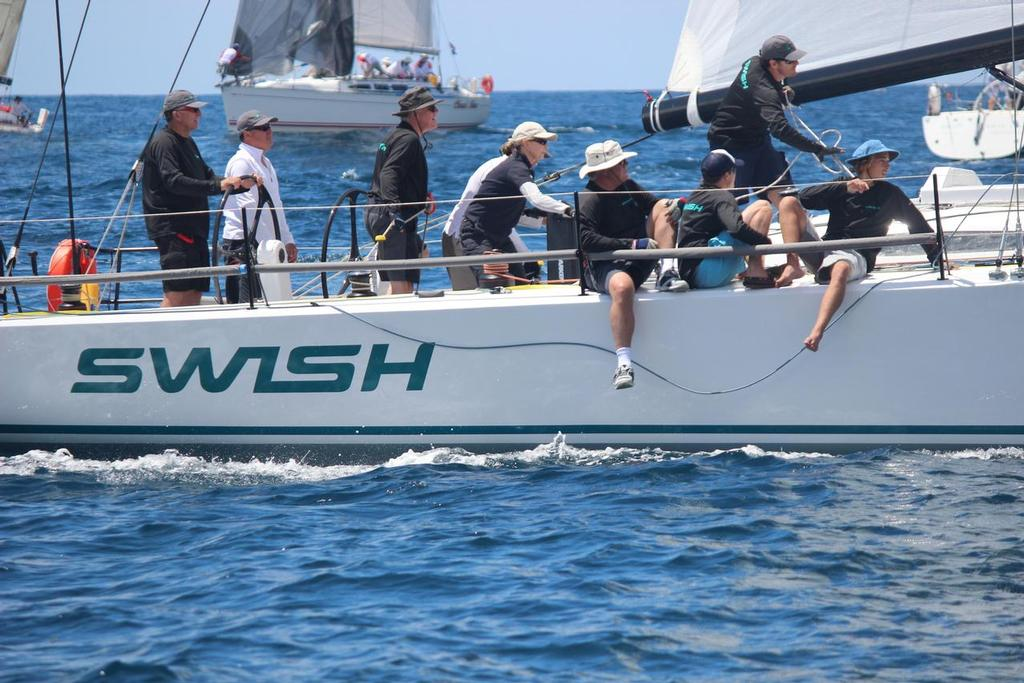 Steven Proud's Kernan44 Swish will be amongst the 40-50 footers and one of the handicap favourites for the ocean race - Pittwater to Coffs  © Damian Devine