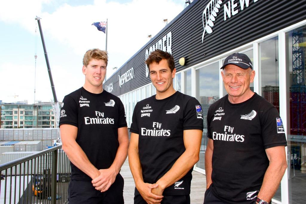 Peter Burling, Blair Tuke and Grant Dalton are now all on the one Team for the 2017 America's Cup © Richard Gladwell www.photosport.co.nz