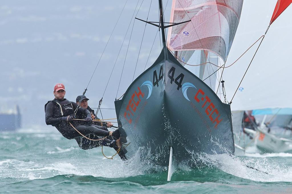 Chris Reid and Andrew Clarke (NZL) 12ft Skiff Interdominions, Day 4, Worser Bay, Wellington, NZ © Garrick Cameron http://www.studio5.co.nz/