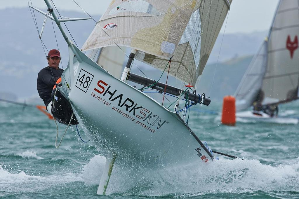 Shaun Sheldrake and Daryl Wislang (NZL) 12ft Skiff Interdominions, Day 4, Worser Bay, Wellington, NZ © Garrick Cameron http://www.studio5.co.nz/