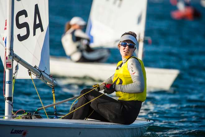 ISAF Sailing World Cup Miami 2014 - Day 2, Laser Radial USA © Walter Cooper /US Sailing http://ussailing.org/
