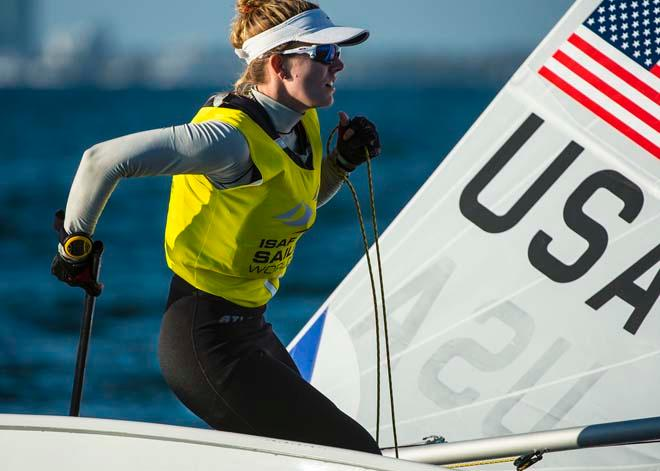 ISAF Sailing World Cup Miami 2014 - Day 2, Laser Radial © Walter Cooper /US Sailing http://ussailing.org/