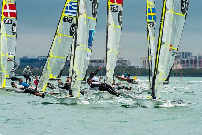 ISAF Sailing World Cup Miami 2014 - Day 4, 49er © Walter Cooper /US Sailing http://ussailing.org/