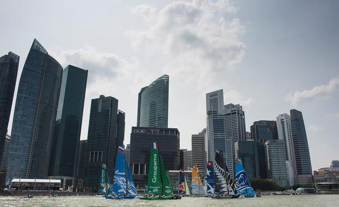 The Extreme Sailing Series 2014. Act 1. Singapore. <br /> Credit - Lloyd Images &copy; Lloyd Images