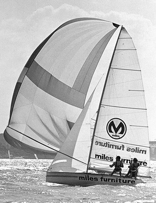 1976 JJ Giltinan champion Miles Furniture © Frank Quealey /Australian 18 Footers League http://www.18footers.com.au
