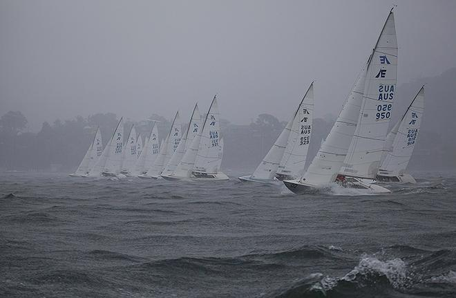 Just after the start of the final race, which would decide the championship. - Garmin NSW Etchells Championship ©  John Curnow