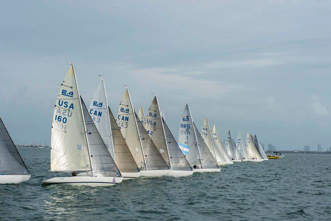 2.4mR Start on day 5 - 2014 ISAF Sailing World Cup Miami © Walter Cooper /US Sailing http://ussailing.org/