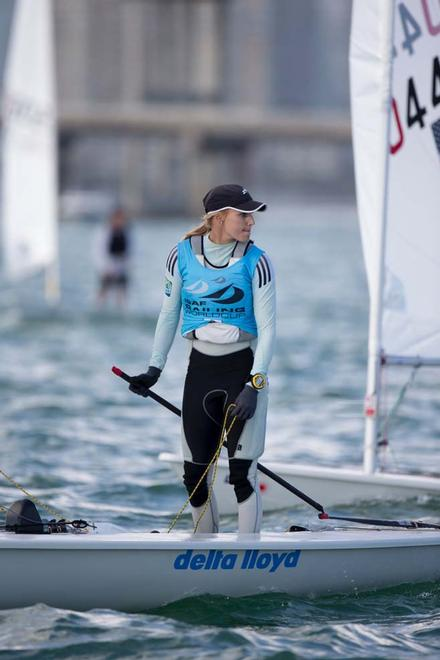 Marit Bouwmeester, Laser Radial medal race - 2014 ISAF Sailing World Cup Miami © Richard Langdon /Ocean Images http://www.oceanimages.co.uk