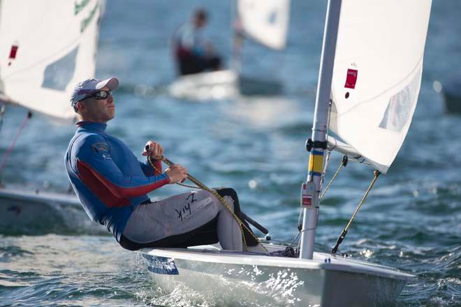 Nick Thompson, Laser - ISAF Sailing World Cup Miami 2014 © Richard Langdon /Ocean Images http://www.oceanimages.co.uk