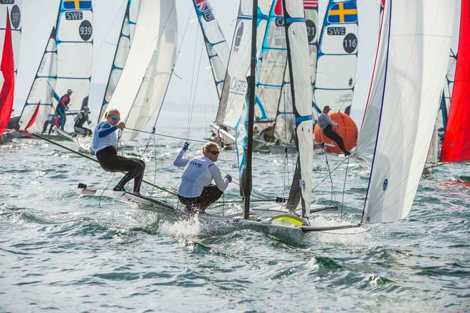 Hanna Klinga and Lisa Ericson - ISAF Sailing World Cup Miami 2014 - day 5 © Walter Cooper /US Sailing http://ussailing.org/