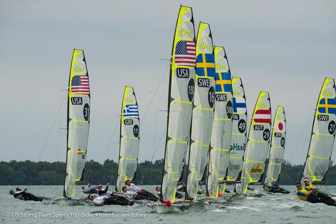 US Sailing Team Sperry Top-Sider at ISAF Sailing World Cup Miami © Jen Edney