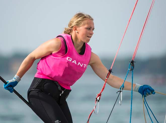 Noora Ruskola, 49erFX - ISAF Sailing World Cup Miami 2014 - day 5 © Walter Cooper /US Sailing http://ussailing.org/
