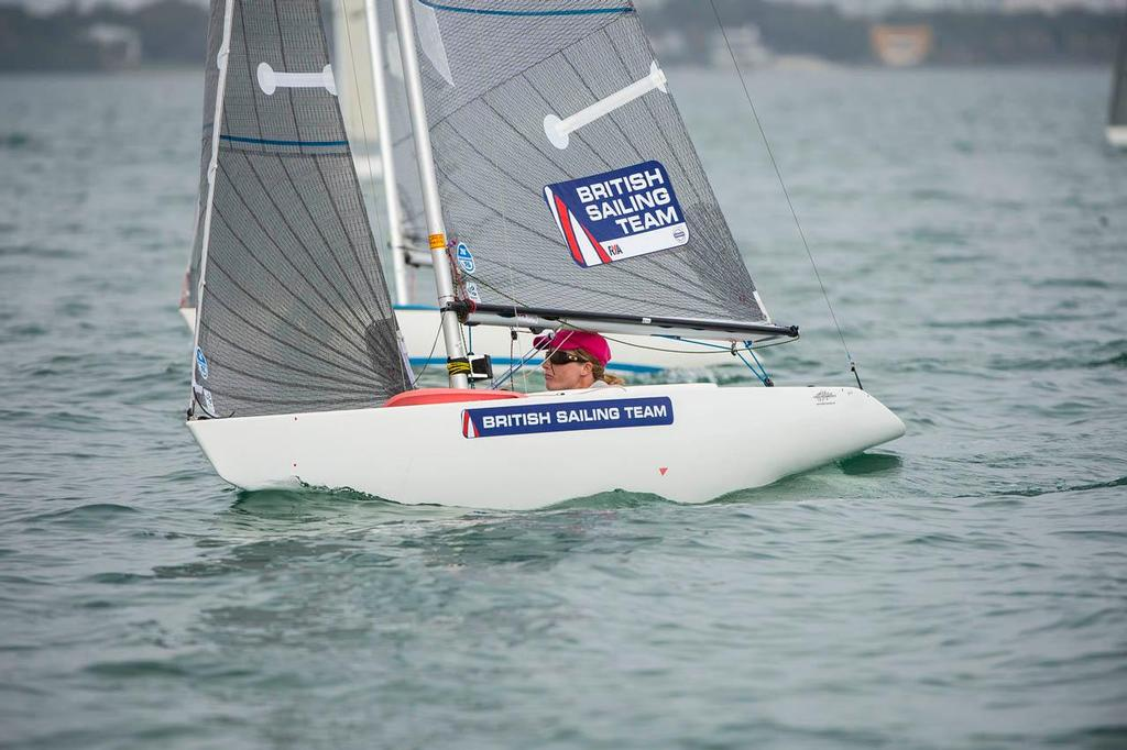 Megan Pascoe GBR 98 2.4mR - 2014 ISAF Sailing World Cup Miami day 5 © Walter Cooper /US Sailing http://ussailing.org/