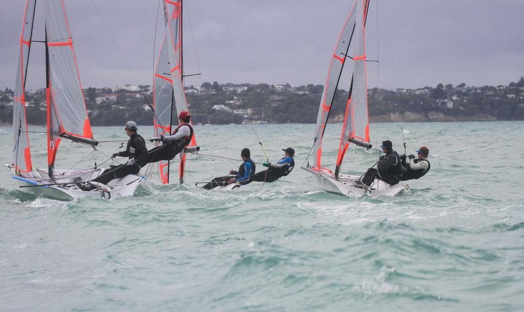 close racing at 29er Nationals - 29er NZ Nationals 2014 © John Adair