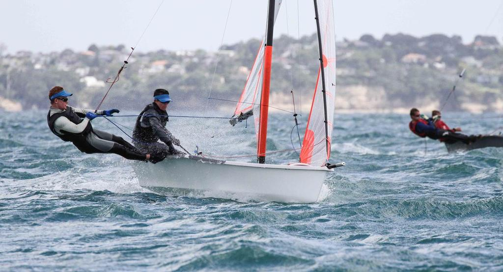 2nd place for Jack & Micah - 29er NZ Nationals 2014 © John Adair