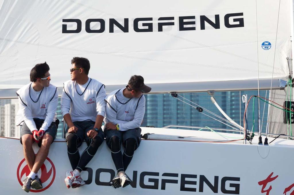 Dongfeng Race Team sailing off the coast of Hong Kong © Guy Nowell http://www.guynowell.com