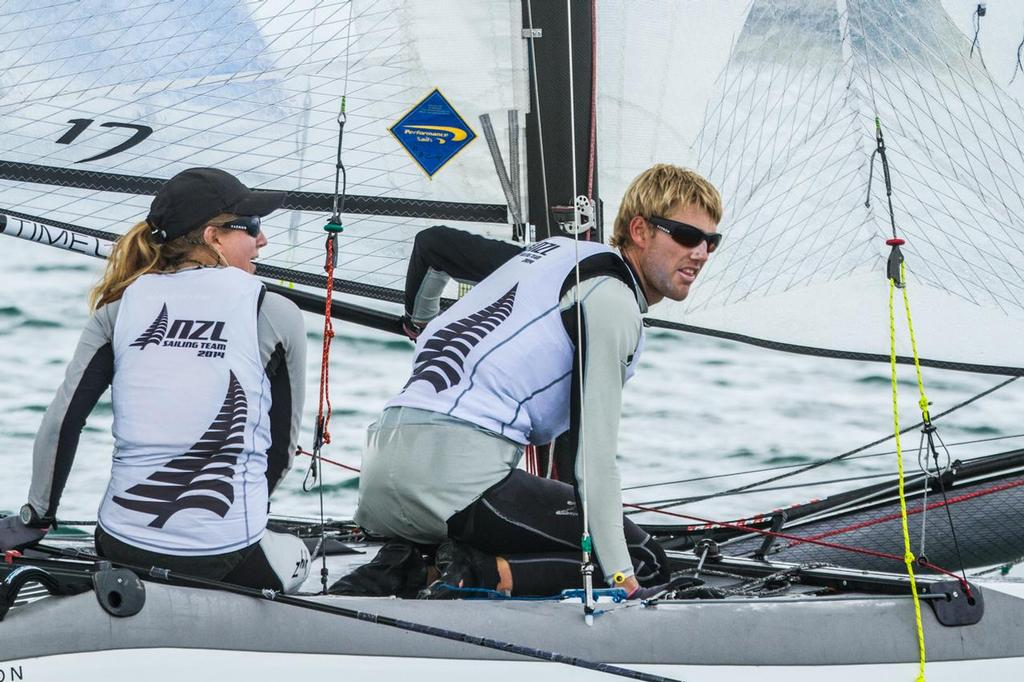 Gemma and Jason-2 - Oceanbridge Sail Auckland 2014, Day 4 © Oceanbridge Sail Auckland