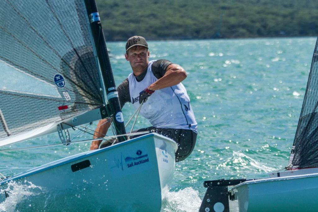 Josh Junior - Finn class - Oceanbridge Sail Auckland - Day 1 © Oceanbridge Sail Auckland