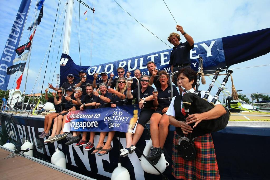 Old Pulteney arrive in Singapore - Clipper Round The World Yacht Race 2013-14 © Clipper 13-14 Round the World Yacht Race