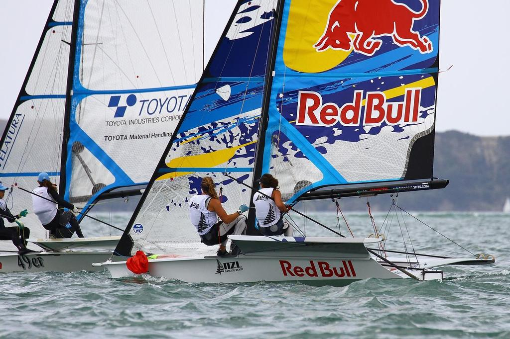 Oceanbridge Sail Auckland 2014 - February 4, 2014 _  49erFX - Alex Maloney and Molly Meech  © Richard Gladwell www.photosport.co.nz