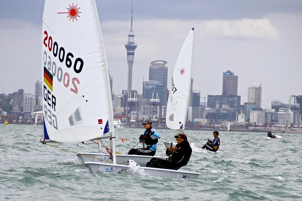 Oceanbridge Sail Auckland 2014 - February 4, 2014 - Laser Radial - GER © Richard Gladwell www.photosport.co.nz