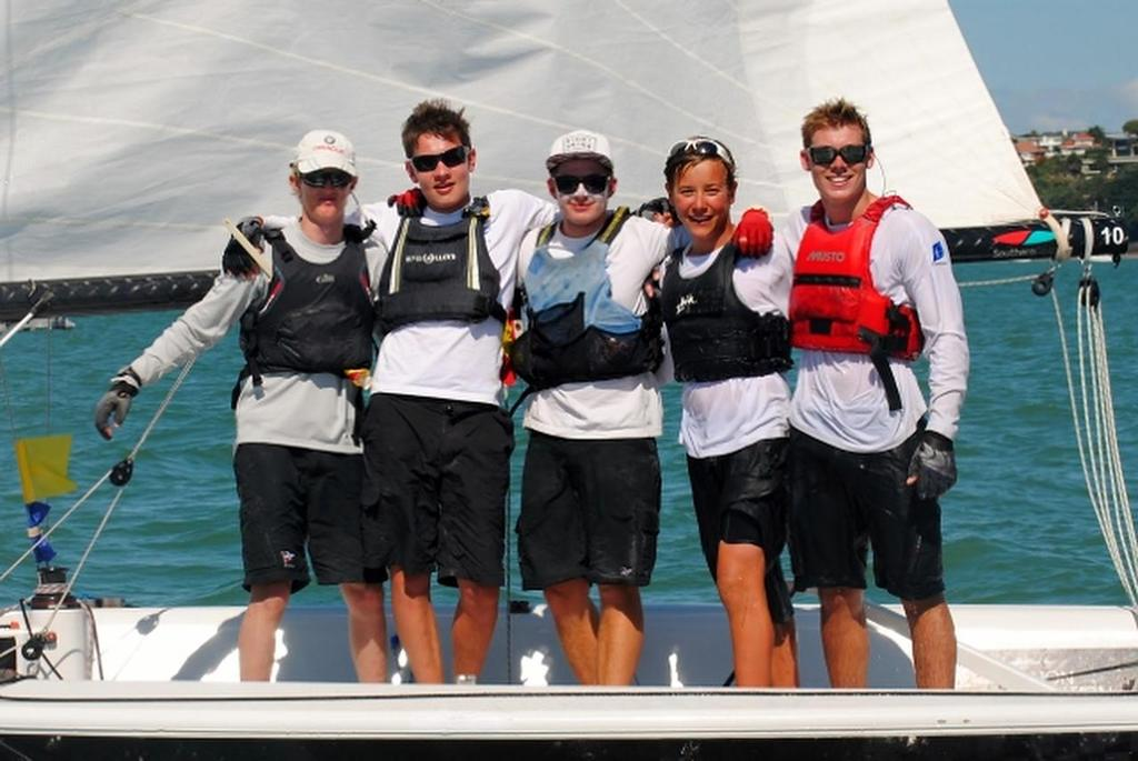 Gautrey crew - 2014 Nesspresso Youth International Match Racing Championships © RNZYS Media