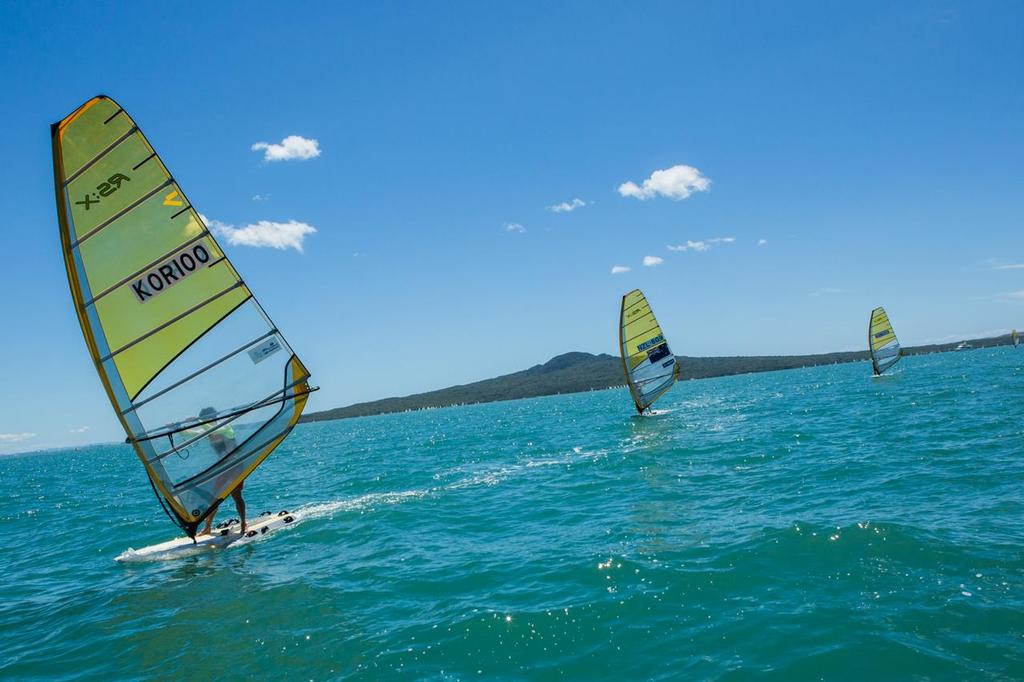 Windsurfers Downwind - Day 2 Oceanbridge Sail Auckland © Oceanbridge Sail Auckland