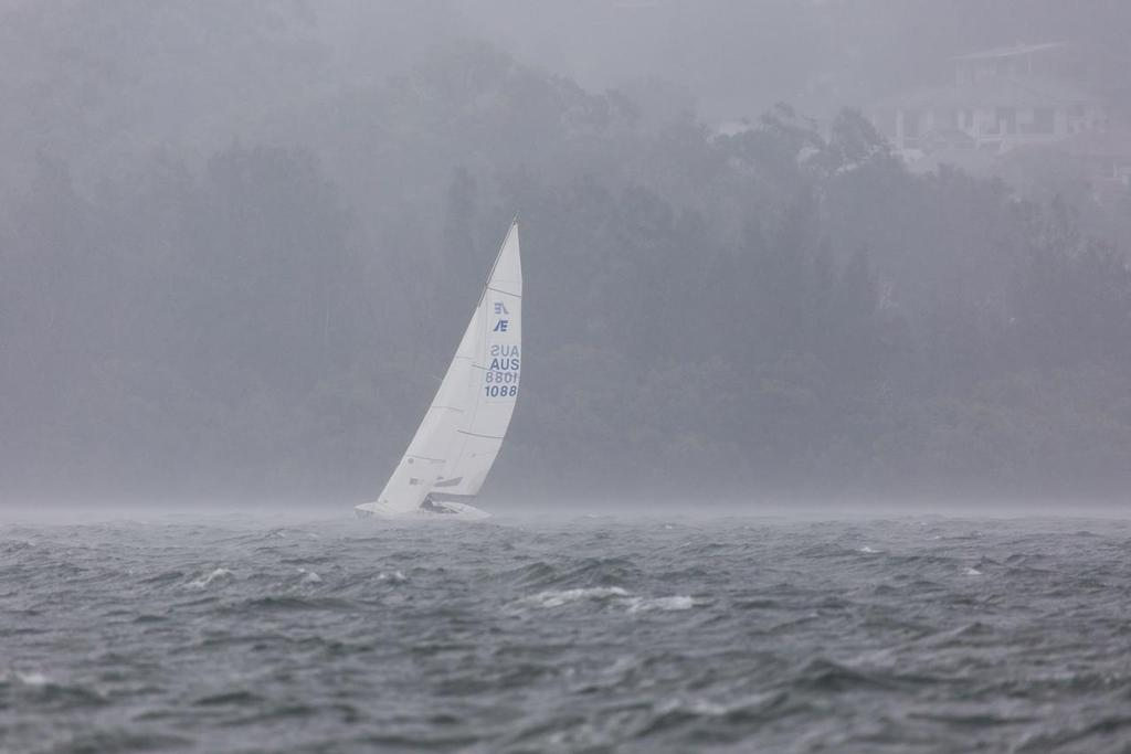One of the best ways to try and demonstrate the conditions sailors faced is to show them. - Garmin NSW Etchells Championship © Kylie Wilson Positive Image - copyright http://www.positiveimage.com.au/etchells