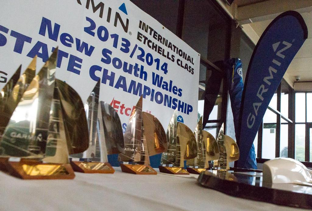 Part of the trophies and prizes on offer at this regatta. - Garmin NSW Etchells Championship © Kylie Wilson Positive Image - copyright http://www.positiveimage.com.au/etchells