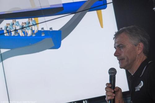 Red Bull Youth America's Cup -Designer's briefing at Club 72; Pete Melvin (ETNZ) © ACEA /Gilles Martin-Raget