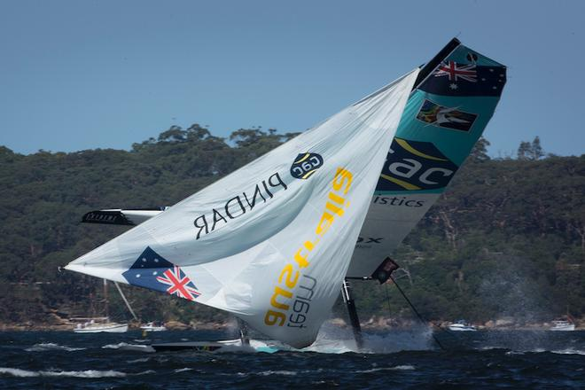 The Extreme Sailing Series 2014, Act Eight, Sydney, Australia.  © Lloyd Images
