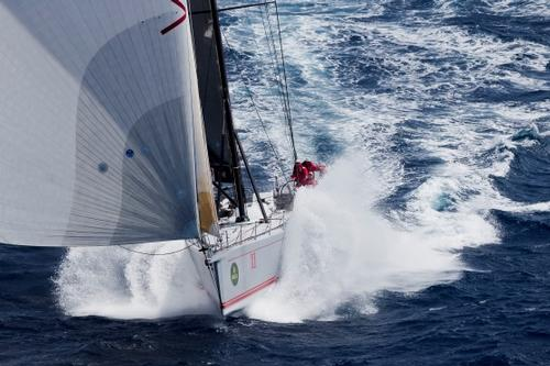 "Wild Oats XI – ""The Swiss Army Knife's""  Latest attachement is making a difference  heading into the Rolex Sydney-Hobart Yacht Race. © Wild Oats XI"