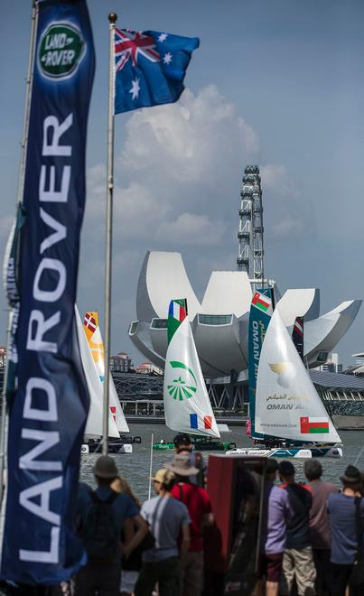 The Extreme Sailing Series 2014. Act 1. Singapore. Day 3. <br />  &copy; Lloyd Images