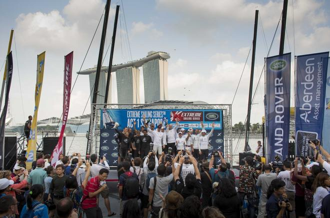Extreme Sailing Series 2014 - Act 1, Singapore. © Lloyd Images