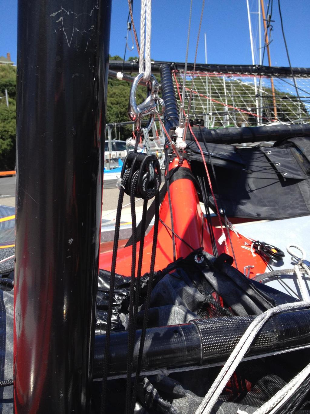29mm Harken T2 soft attach double used on our mainsail cunningham system © Knight Frank Racing