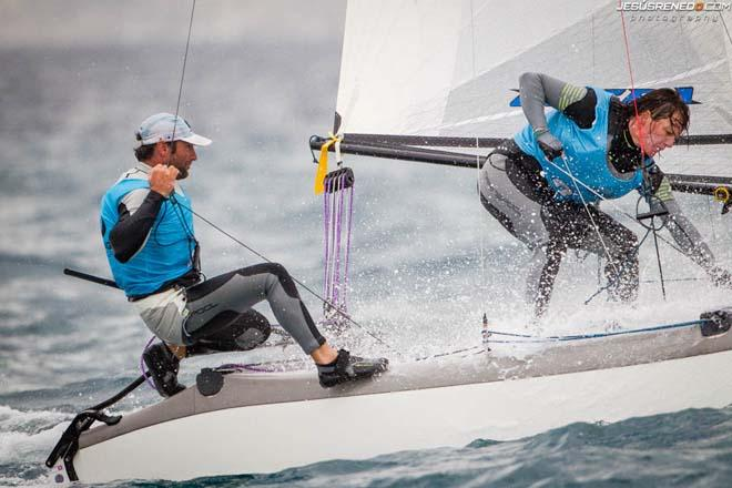 Billy Besson and Marie Riou (FRA), Nacra 17 © Jesus Renedo / Sofia Mapfre http://www.sailingstock.com
