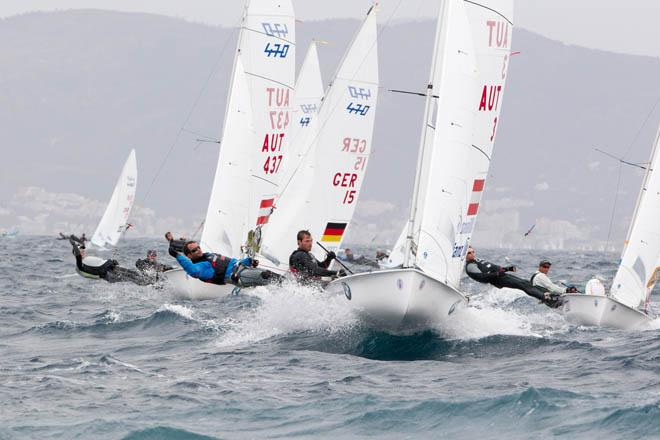2014 ISAF Sailing World Cup Mallorca, day 3 - 470 Men © Thom Touw http://www.thomtouw.com
