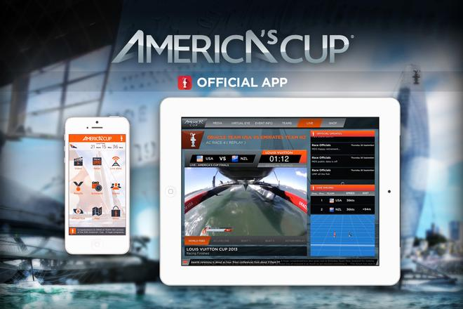 Animation Research Ltd developed the iOS and Android apps used in the America's Cup © VirtualEye http://www.virtualeye.tv