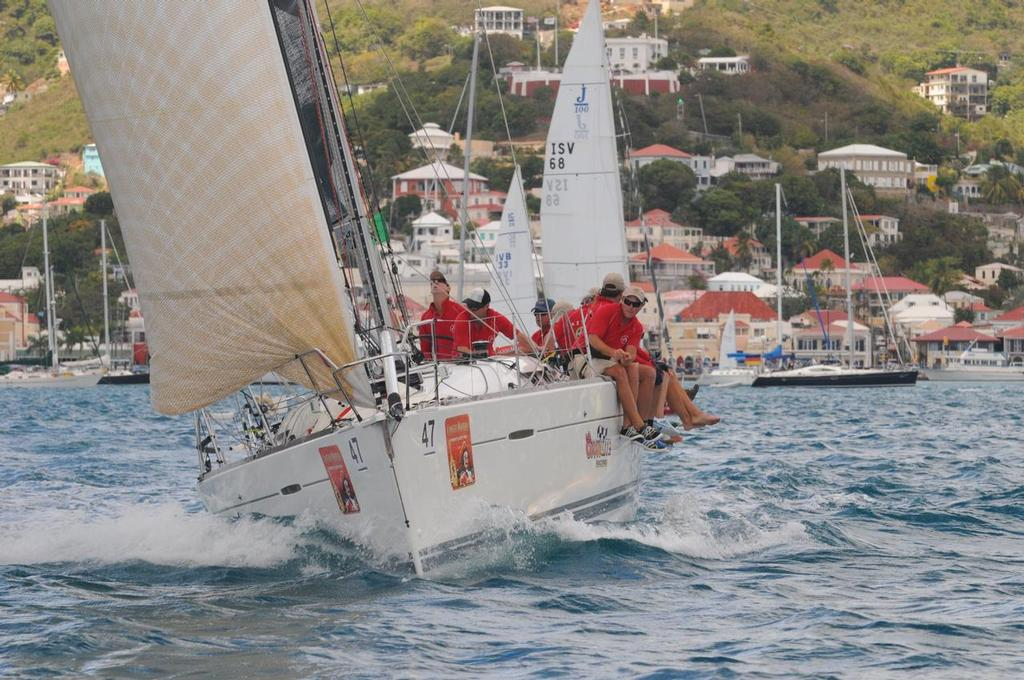 Coors Light Race Team, aboard their Beneteau First 40, racing in Charlotte Amalie Harbor. - Day 1 St Thomas Int Regatta  © Dean Barnes