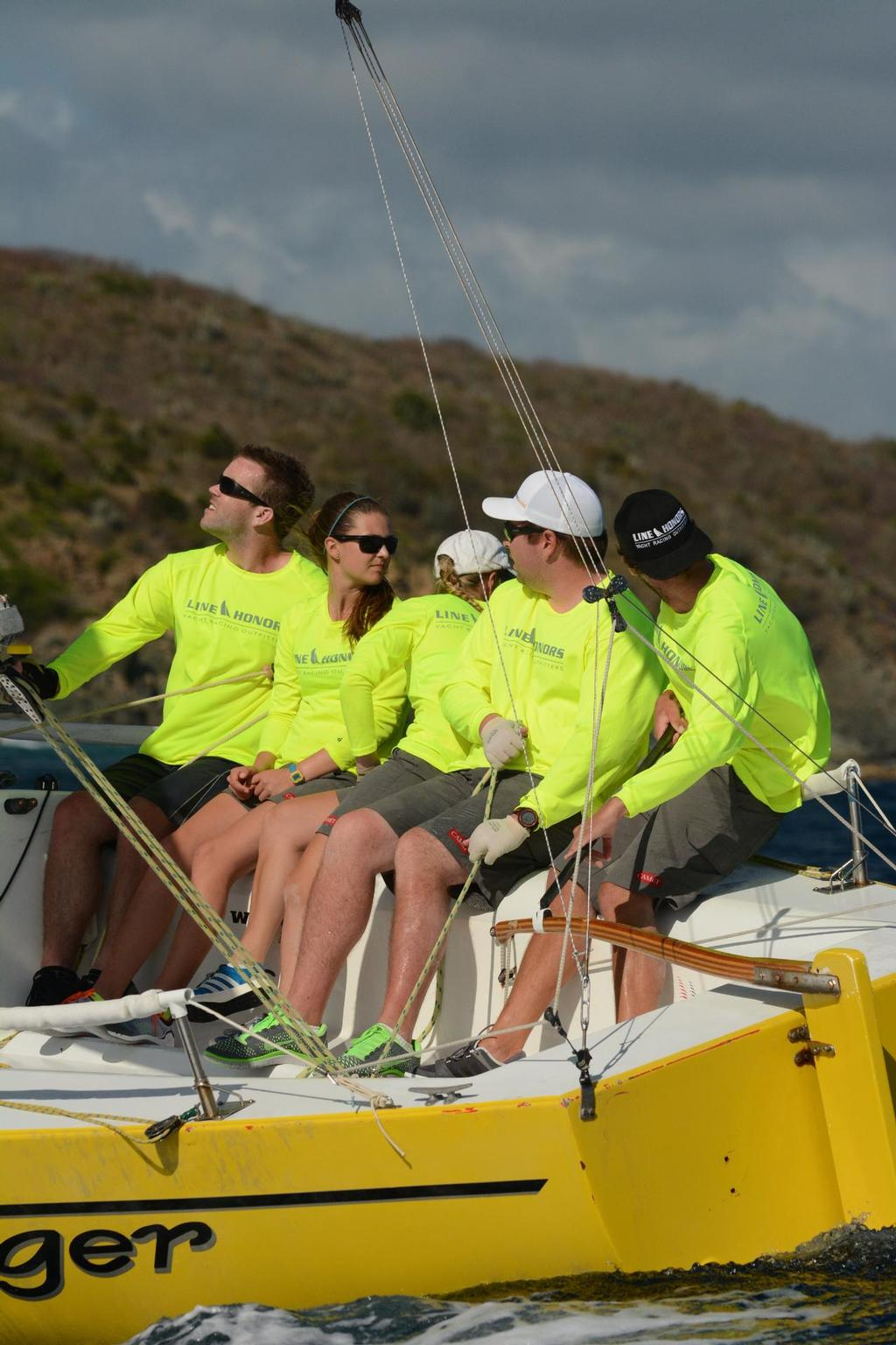 The USVI's Taylor Canfield, currently the top ranked match racer in the world, competes with match racing crew and friends - Day 1 St Thomas Int Regatta  © Dean Barnes