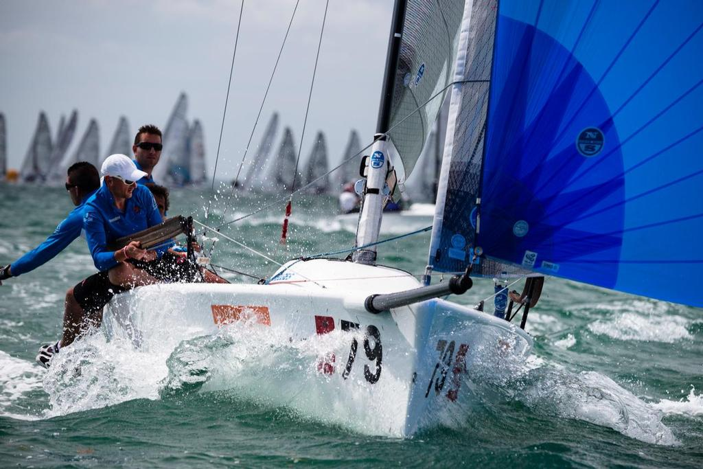 Melges 24 leader Nicola Ardito from Italy during day four of racing (Photo Credit BMSW/Cory Silken) ©  Cory Silken