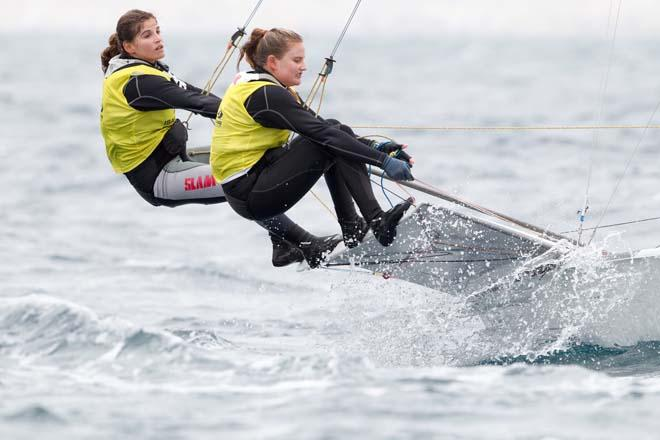 2014 ISAF Sailing World Cup Mallorca, day 4 - 49erFX © Thom Touw http://www.thomtouw.com