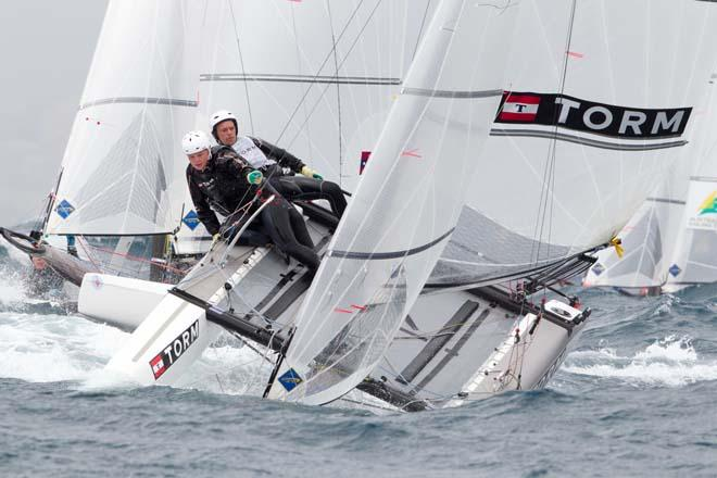 2014 ISAF Sailing World Cup Mallorca, day 4 - Nacra 17 © Thom Touw http://www.thomtouw.com