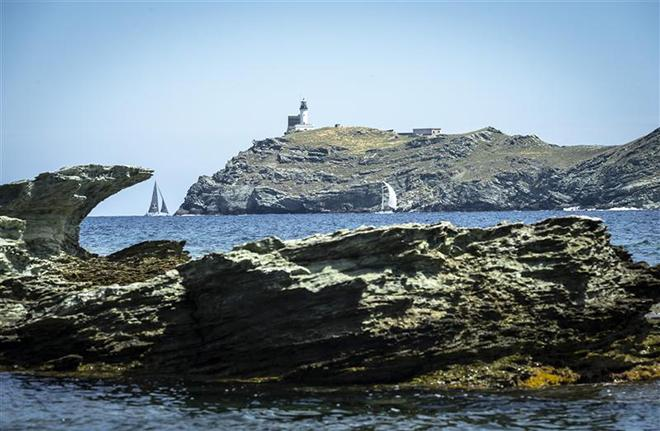 The Giraglia rock - The symbol of the 248-nm race. ©  Rolex/ Kurt Arrigo http://www.regattanews.com