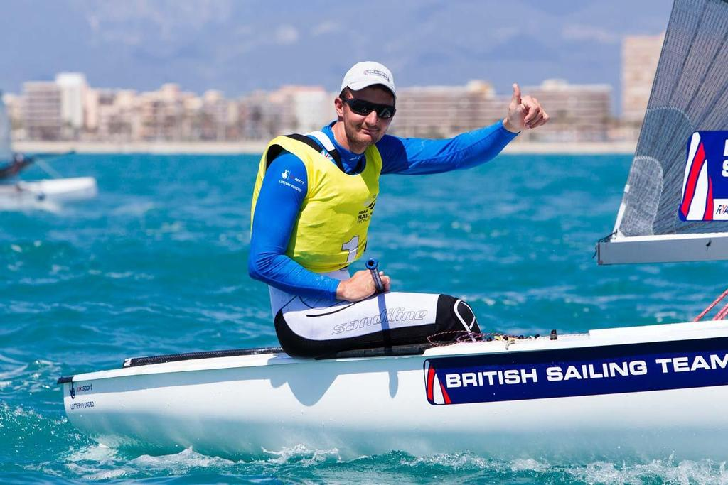 2014 ISAF Sailing World Cup Mallorca - Gold - Giles Scott in Finn © Ocean Images