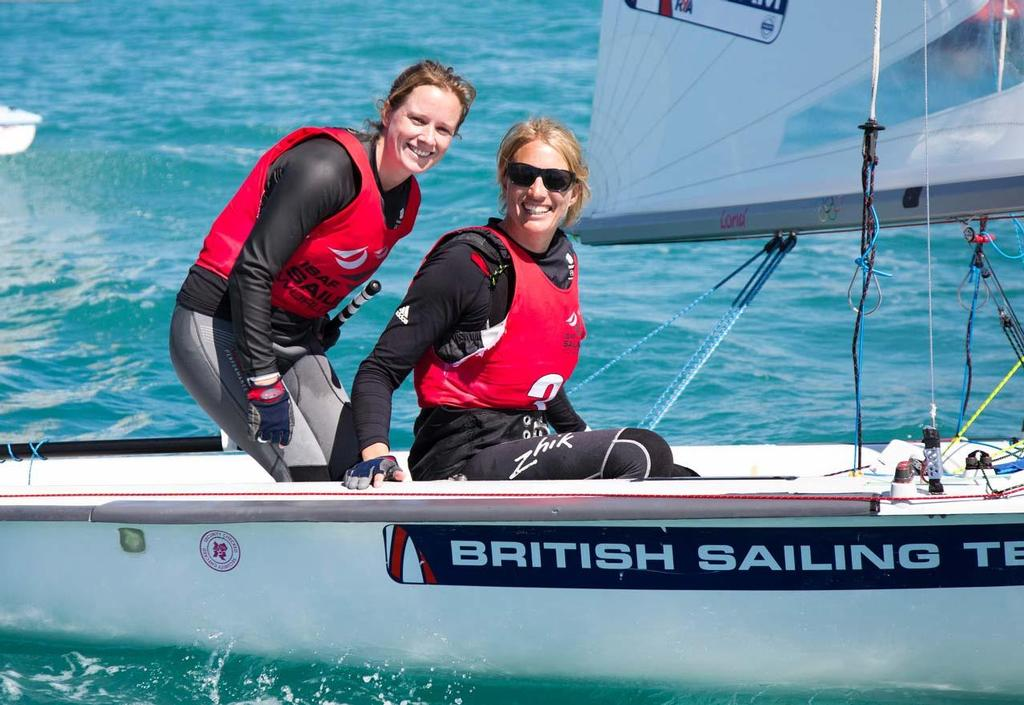 2014 ISAF Sailing World Cup Mallorca - Bronze - Hannah Mills & Saskia Clarke in 470 © Ocean Images