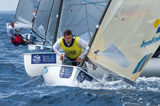 2014 ISAF Sailing World Cup, Hyeres, France - Pieter-Jan Postma, Finn © Thom Touw http://www.thomtouw.com