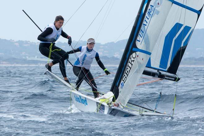 2014 ISAF Sailing World Cup, Hyeres, France - 49erFX © Thom Touw http://www.thomtouw.com