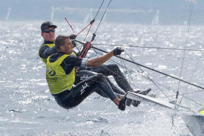 2014 ISAF Sailing World Cup, Hyeres, France - 49er © Thom Touw http://www.thomtouw.com